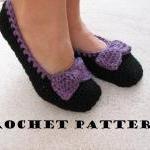 Adult Slippers Crochet Pattern PDF,..