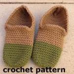Men's Slippers, Crochet Pattern PDF..