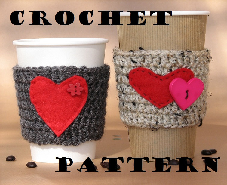 Coffee Cozy Crochet Pattern Pdfcoffee Sleeve Tea Cozy Cup Warmer