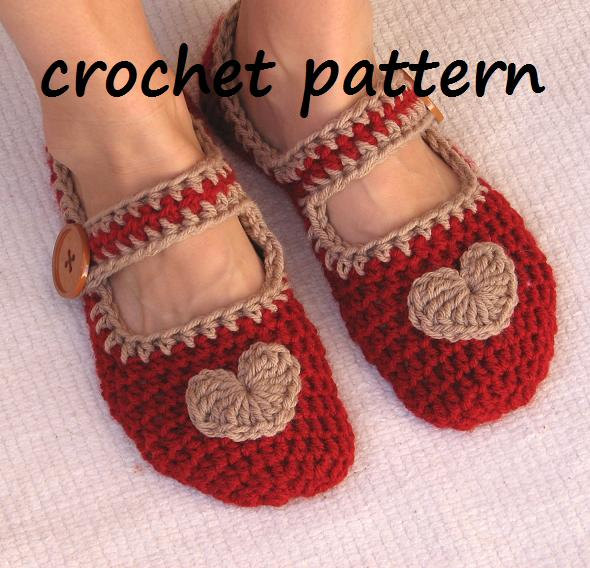 Mary Jane Slippers Crochet Pattern PDF,Easy, Great For Beginners ...