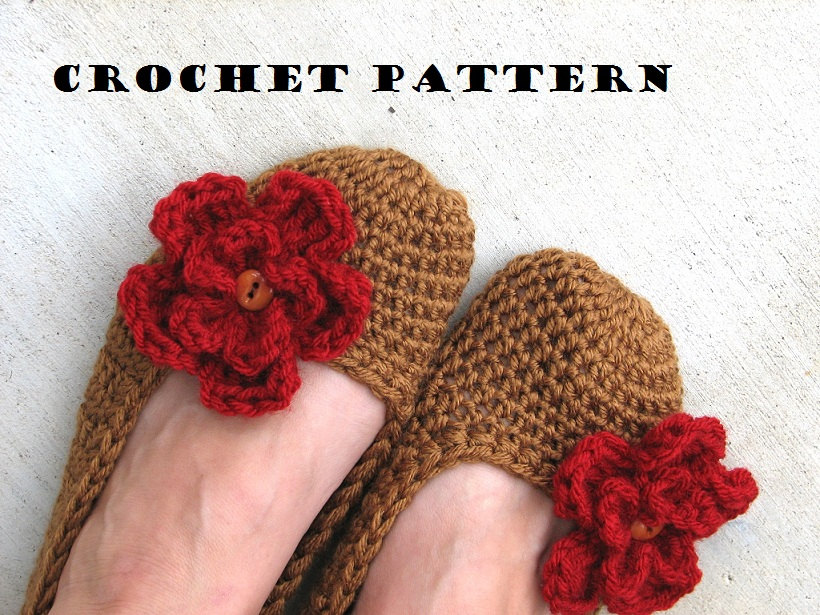 Adult Slippers Crochet Pattern Pdfeasy Great For Beginners Shoes