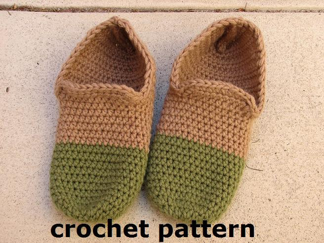 Mens Slippers Crochet Pattern Pdfeasy Great For Beginners Shoes
