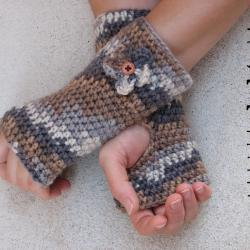 Fingerless gloves with Flower , Crochet Pattern PDF,Easy, Great for Beginners, Pattern No. 6
